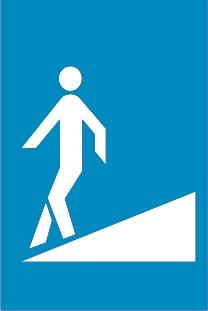 Ανισόπεδη διάβαση πεζών χωρίς σκαλοπάτια.
