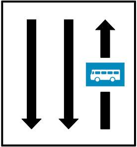 Λωρίδα αποκλειστικής κυκλοφορίας Λεωφορείων ή Τρόλλεϋ.