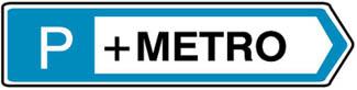 Κατεύθυνση οχημάτων για στάθμευση σε συγκεκριμένο χώρο (π.χ. Μετρό για χρησιμοποίηση του μεταφορικού αυτού μέσου).