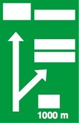 Προειδοποιητική κατευθύνσεων προ ανισόπεδου κόμβου (αποκλειστικά για αυτοκινητόδρομο).