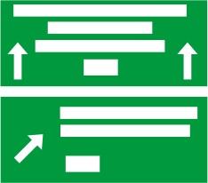 Γέφυρα σήμανσης με αναγραφή κατευθύνσεων στην αρχή εξόδου από τον αυτοκινητόδρομο (αρχή λωρίδας επιβράδυνσης κόμβου).