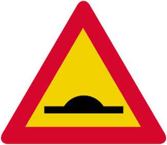 Επικίνδυνο υπερυψωμένο οδόστρωμα ή απότομη κυρτή αλλαγή της κατά μήκος κλίσης της οδού.