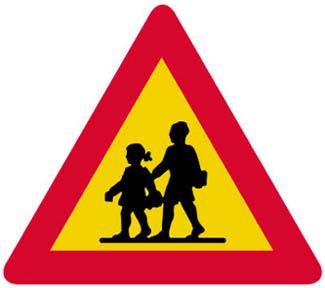 Κίνδυνος λόγω συχνής κινήσεως παιδιών (σχολεία, γήπεδα κ.λ.π.).