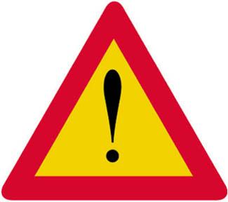 Προσοχή άλλοι κίνδυνοι (που δεν δηλώνονται στις πινακίδες Κ-1 έως Κ-24)