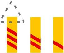 Πρόσθετες επαναληπτικές πινακίδες στις προσβάσεις ισόπεδων σιδηροδρομικών διαβάσεων ή κινητών γεφυρών, οι οποίες δηλώνουν την προσέγγιση σ'αυτές.