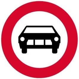 Απαγορεύεται η είσοδος σε μηχανοκίνητα οχήματα εκτός των διτρόχων μοτοσυκλετών.