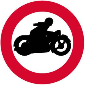Απαγορεύεται η είσοδος στις μοτοσυκλέτες.