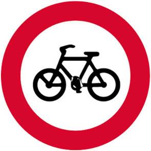 Απαγορεύεται η είσοδος στα ποδήλατα.