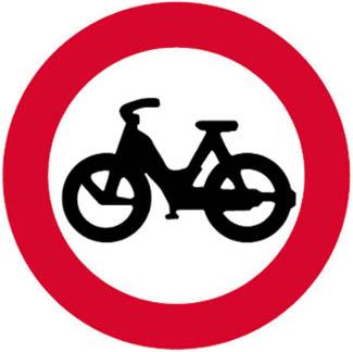 Απαγορεύεται η είσοδος στα μοτοποδήλατα.