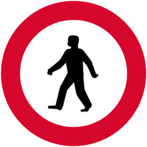 Απαγορεύεται η είσοδος σε πεζούς.