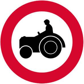 Απαγορεύεται η είσοδος σε αγροτικά μηχανήματα.