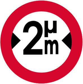 Απαγορεύεται η είσοδος σε οχήματα συνολικού πλάτους που υπερβαίνει τα... (π.χ. 2) μέτρα.