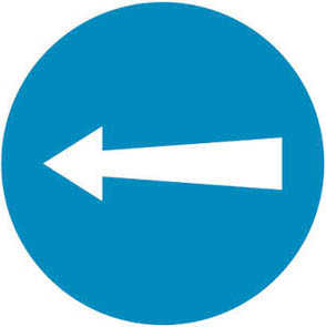 Υποχρεωτική κατεύθυνση πορείας προς τα αριστερά.