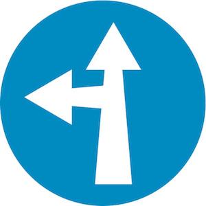 Υποχρεωτική κατεύθυνση πορείας εμπρός ή αριστερά.