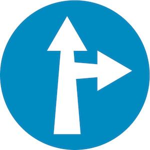 Υποχρεωτική κατεύθυνση πορείας εμπρός ή δεξιά.