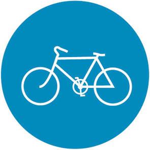 Οδός υποχρεωτικής διέλευσης ποδηλάτων (απαγορευομένης της διέλευσης άλλων οχημάτων).